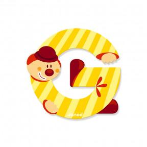 Lettre Clown (bois) - G