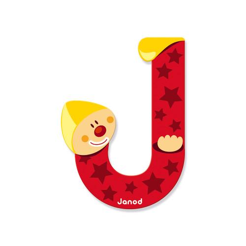 Lettre Clown (bois) - J