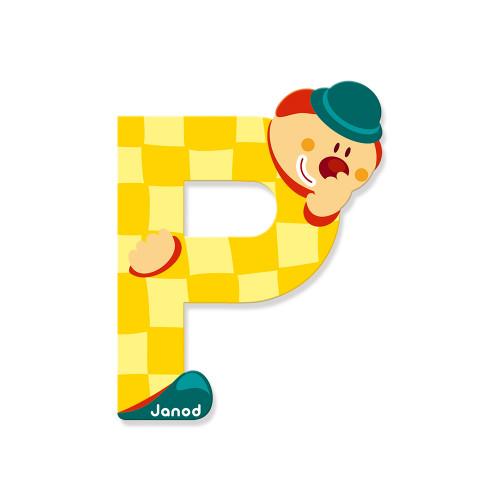 Lettre Clown (bois) - P