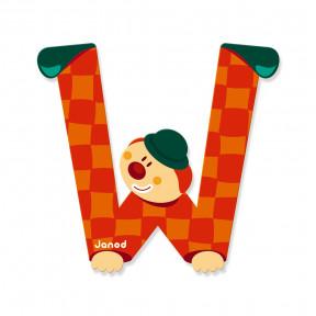 Lettre Clown (bois) - W