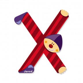 Lettre Clown (bois) - X