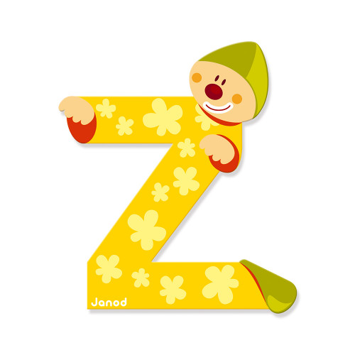 Lettre Clown (bois) - Z