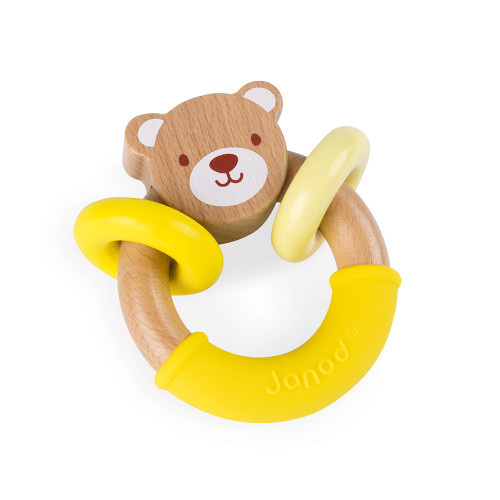 Hochet ours Baby Pop (bois et silicone)