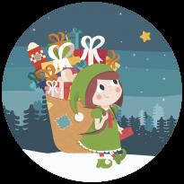 La hotte du Père Noël - Janod