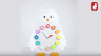 Horloge Owly Clock I Wood