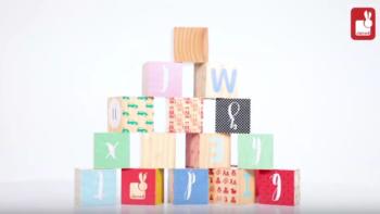Kubix 16 Carved Alphabet Blocks