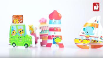 Coffret de 4 puzzles 3D Vacances