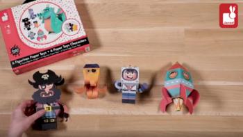Personaggi Paper Toys Avventura