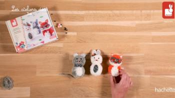 Kit Créatif – Pompons 3 Petits Animaux