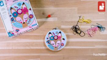 Kit Créatif – Tambour en Feutrine et Broderie