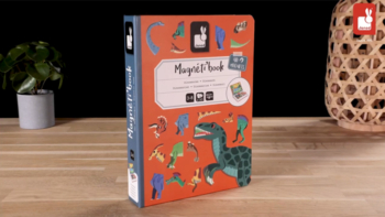Dinosaurs Magneti'book, 40 magnets