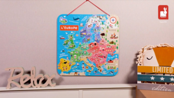 Magnetic European Map in French – In French Only